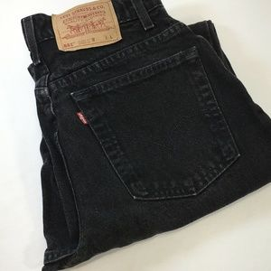 Vintage Levi's 551 Mom Jean High 10 USA Black